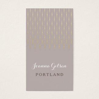 Taupe & ouro claros elegantes cartão de visitas