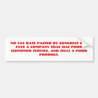 Taxa e negócio de imposto adesivo para carro
