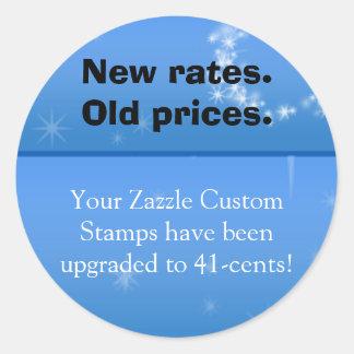 Taxa nova, etiqueta velha do preço adesivo