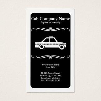 táxi de táxi da modificação cartão de visitas