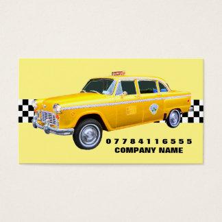 Táxi e tira americanos de táxi do amarelo do cartão de visita