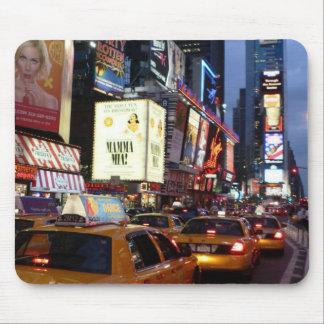 Táxis quadrados do tempo mouse pad