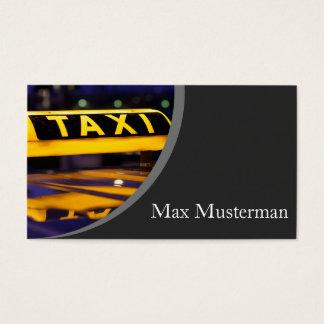 Taxista cartão de presentação cartão de visita