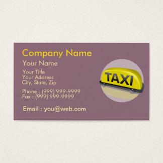 Taxista da profissão cartão de visitas