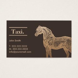 Taxista do cavalo do ouro/cartão de visita Tan do Cartão De Visita