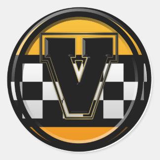 Taxista inicial de V Adesivo