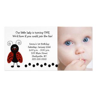 TBA Aniversário nascimento pequenos da foto do j Cartoes Com Foto Personalizados