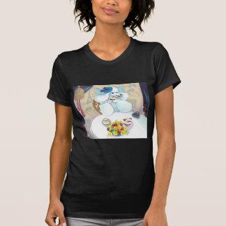 Tea party branco da caniche t-shirt