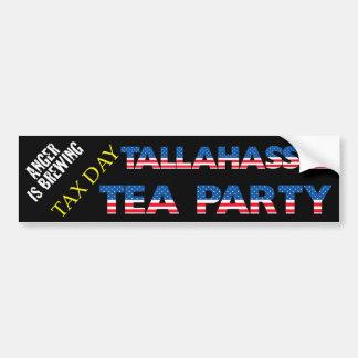 TEA PARTY DO DIA DO IMPOSTO - TALLAHASSEE ADESIVO PARA CARRO