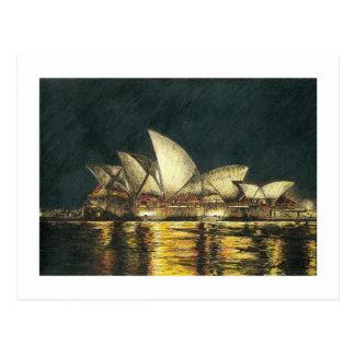 Teatro da ópera de Sydney Cartão Postal