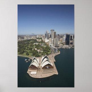 Teatro da ópera de Sydney, jardins botânicos reais Poster