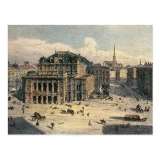 Teatro da ópera do estado de Viena, c.1869 Cartão Postal