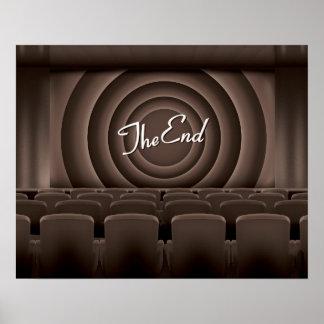 Teatro do cinema do filme do vintage poster