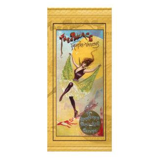 Teatro do palácio do marcador das variedades 10.16 x 22.86cm panfleto