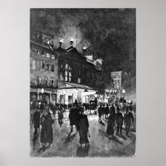 Teatro Londres 1890 do império Pôsteres