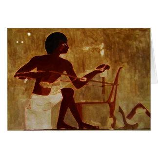 Tecelão egípcio cartão comemorativo