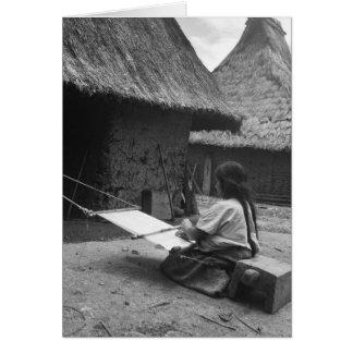 Tecelão - Magdalenas, Chiapas, México Cartão Comemorativo