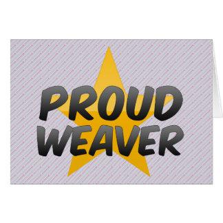 Tecelão orgulhoso cartão