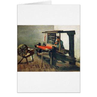 Tecelão que enfrenta à esquerda - Vincent van Gogh Cartão