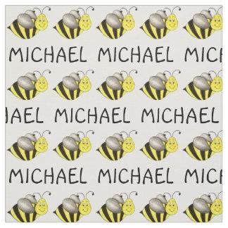 Tecido amarelo conhecido personalizado das abelhas