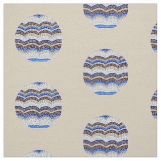 Tecido azul redondo da sarja do algodão do mosaico