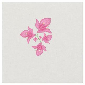Tecido Bougainvillea cor-de-rosa floral