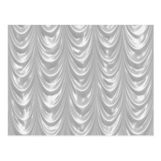 Tecido branco nupcial do cetim com teste padrão Sc Cartão Postal