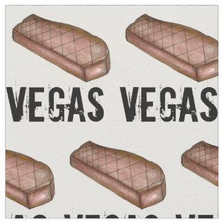 Tecido Carne grelhada do bife de tira de Las Vegas