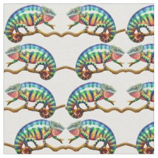 Tecido colorido do camaleão da pantera