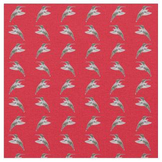 Tecido da agitação do colibri (vermelho)