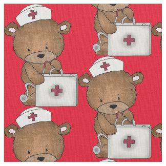 Tecido de algodão de Pima do urso da enfermeira