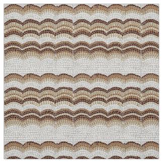 Tecido de Weave bege do poliéster do mosaico