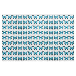 Tecido do azul da borboleta