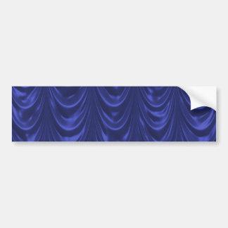 Tecido do cetim dos azuis cobaltos com textura adesivo para carro
