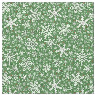 Tecido do feriado do Natal   do floco de neve