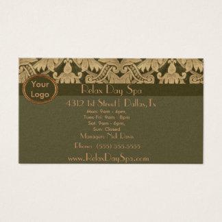 Tecido elegante cartão de visitas