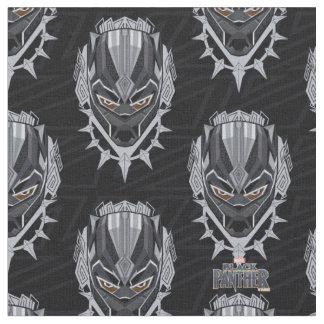 Tecido Emblema da cabeça da pantera preta de pantera