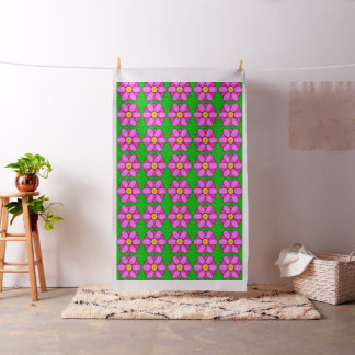 Tecido Flor cor-de-rosa da margarida no teste padrão