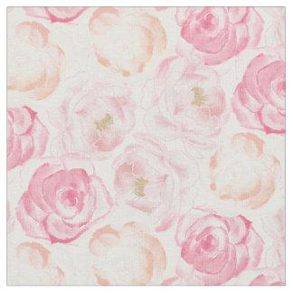 Tecido floral do romance  
