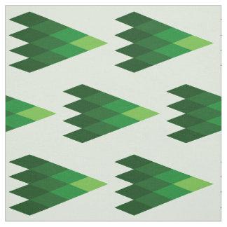Tecido geométrico verde