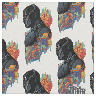 Tecido Grafites tribais da pantera preta de pantera preta