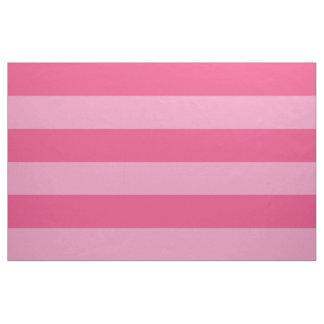 Tecido Grande escala das listras largas cor-de-rosa