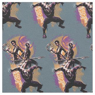 Tecido Guerreiros da pantera preta | Wakandan pintados