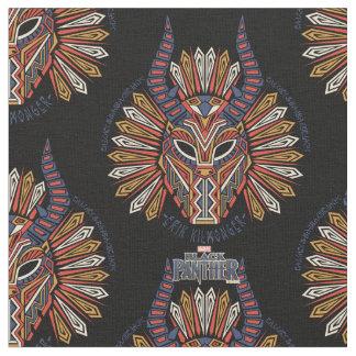 Tecido Ícone tribal preto da máscara da pantera | Erik