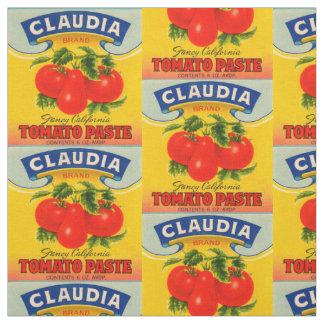 Tecido impressão da etiqueta da pasta de tomate de