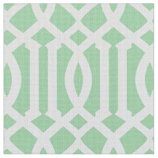 Tecido marroquino verde do teste padrão   da