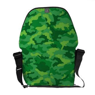 Tecido militar do teste padrão da camuflagem de bolsas mensageiro