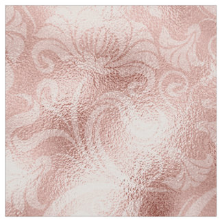 Tecido Ouro cor-de-rosa ID461 do Shimmer floral do