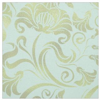 Tecido Ouro floral do Shimmer do damasco em alguma cor