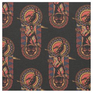 Tecido Pantera preta | Okoye & painel de Nakia Wakandan